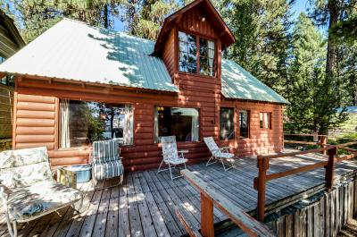 Rustic Red Cabin with Dock - McCall Vacation Rental